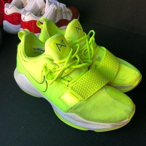 Paul George neon shoes.